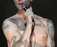 Adam Levine Tiger Tattoo