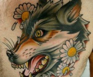Amazing wolfs tattoos on arms