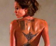 Angelina Jolie Wanted Tattoos