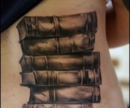 Books tattoo