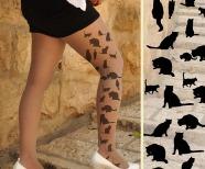 Cat tattoo on leg