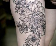 Dahlia tattoos