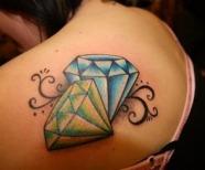 Diamond Tattoos For Girls