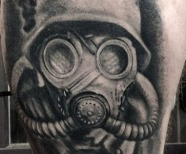 Gas mask tattoos