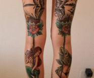 Gorgeous mermaids tattoos