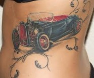 Great cars design tattoos
