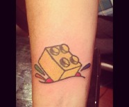 Lego brick tattoos