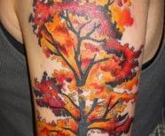 Lovely autumn style tattoos