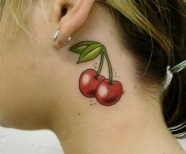 Lovely cherries tattoos