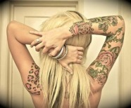 Lovely leopard tattoo
