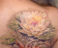 Lovely Lotus flowers tattoos