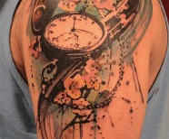 Pocket watch tattoos