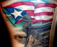 Puerto Rican Flag Tattoos