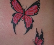 Summer butterflies tattoo