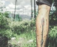 Tattoos on men's legs