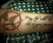 """The hunger games: mockingjay"" tattoos"