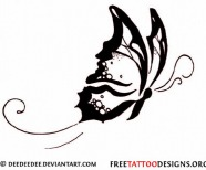 Tribal Butterfly Tattoo Designs