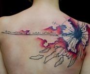 Watercolor tattoos by Klaim