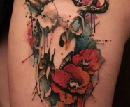 Watercolors skulls tattoos