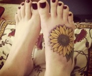 Yellow sunflowers tattoos