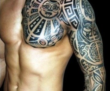 Black tribal tattoos