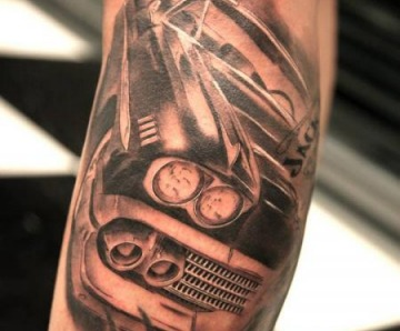 Cars tattoos on arms
