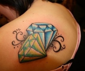 Diamond Tattoos For Girls