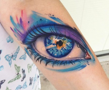Gorgeous blue stunning eyes tattoos