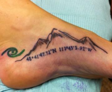 Great foot tattoos design