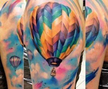 Hot air balloon tattoos