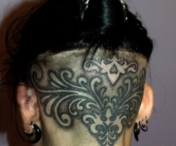 Incredible style tattoos on heads