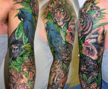 Jungle theme tattoos