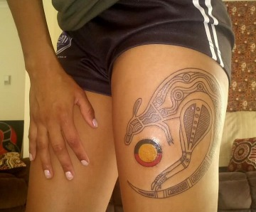 Kangaroo tattoos