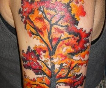 Lovely autumn style tattoos