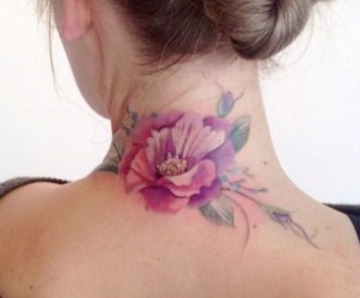 Ornaments and flowers tattoos