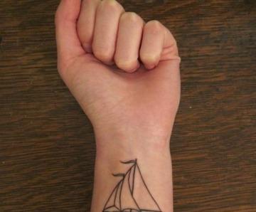 Stunning black ship tattoos