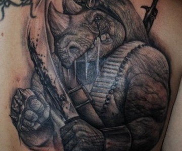 Stunning rhino tattoos