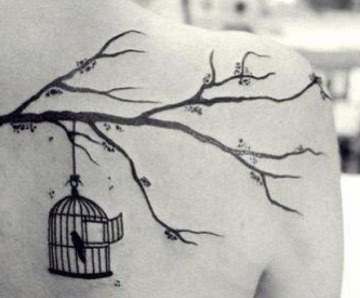 Tree branch tattoos