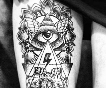 Triangle eye tattoos