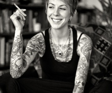 Virginia Elwood tattoos