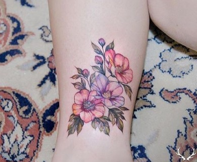 105 Sensational Watercolor Flower Tattoos