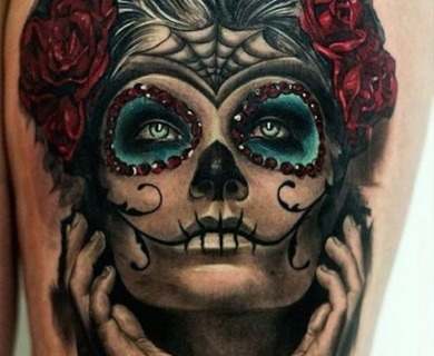 50 Drop Dead Gorgeous Santa Muerte Tattoos