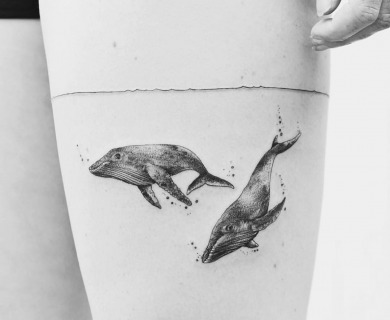 55 Sensational Blackwork Animal Tattoos