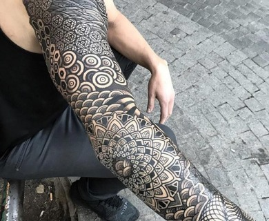 69 Spectacular Mandala Sleeve Tattoos