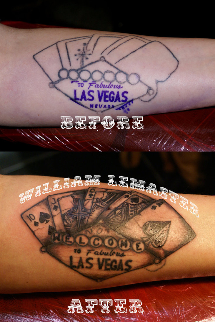Tattoo fix not welcome to las vegas by lemaster99705 for Tattoo in las vegas