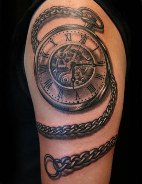 arm men tattoo clock. Black Bedroom Furniture Sets. Home Design Ideas