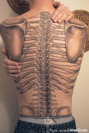 anatomical tattoo skelehand - TattooMagz