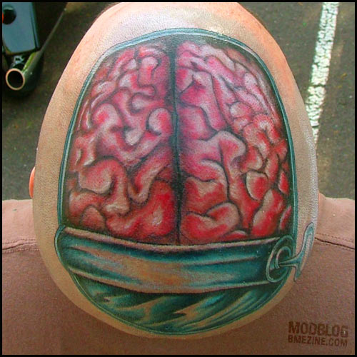 Anatomical Tattoo Brain Can Tattoomagz