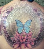 energy tattoo butterfly lotus angel wing, memorial, flowers, angels, insects, energy wave