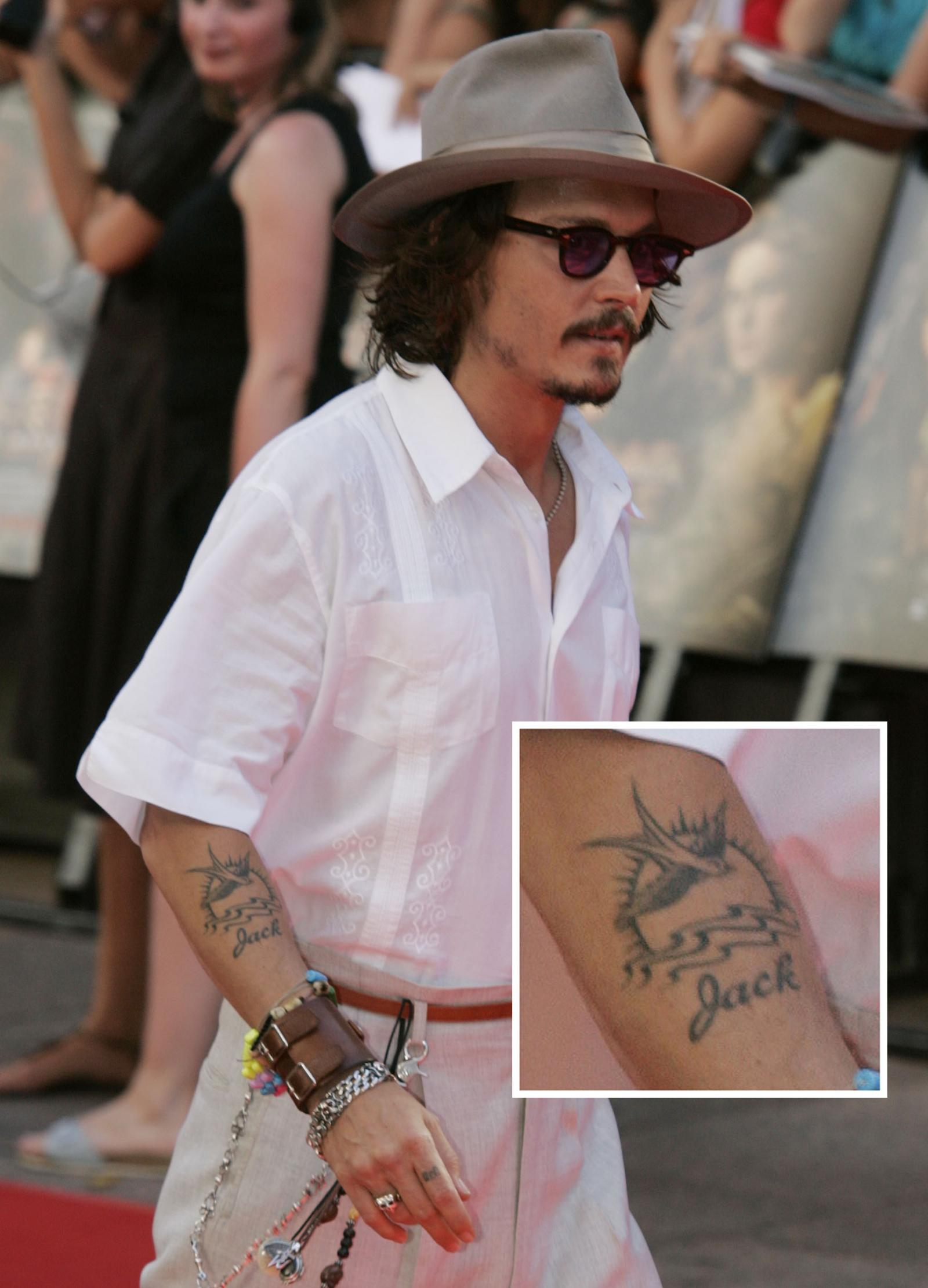 Johnny Depp Changes His Amber Heard Tattoo from Slim to